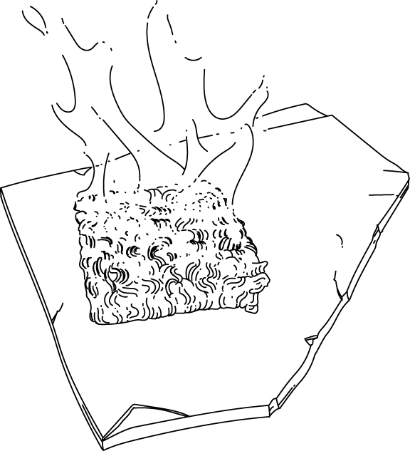 ramen noodle stove survival hack illustration