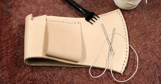Leather Hand Sewing.