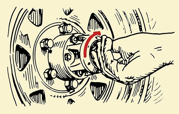 4wd Four Wheel Drive manual Locking Hub illustration.