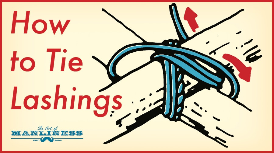 how to tie lashings illustration