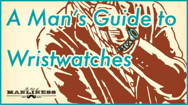 Man's guide to wristwatches illustration.