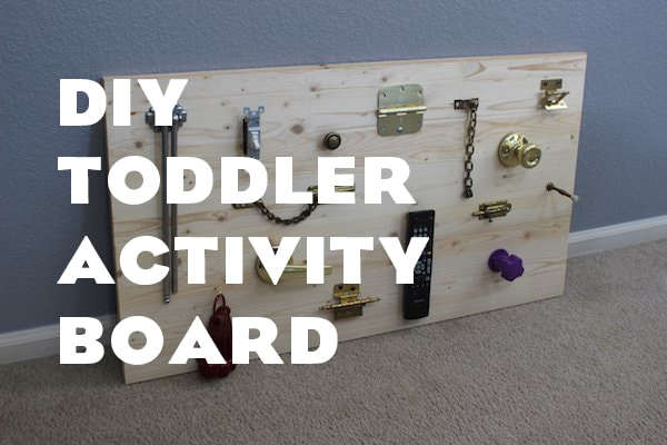 how to make busy board for toddlers