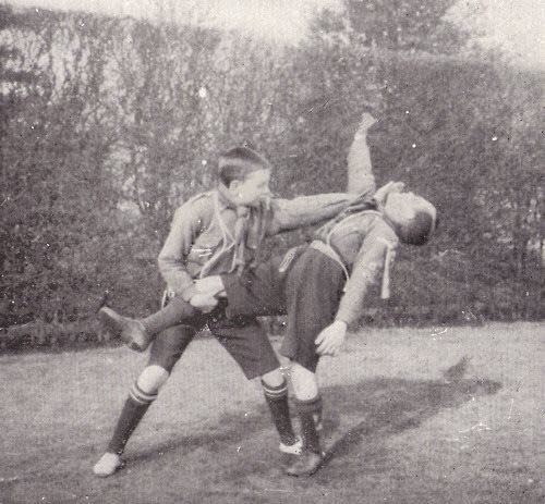 Vintage MC Boy Scouts Fighting.