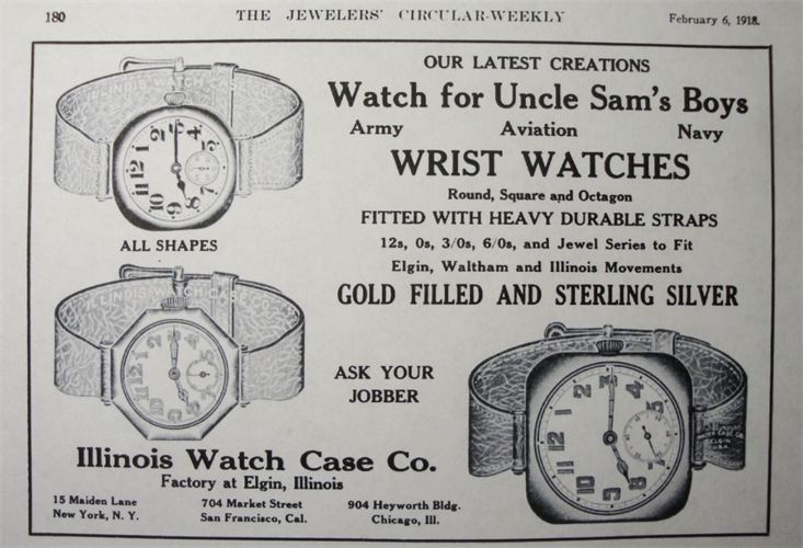 vintage watch wristwatch ad advertisement illinois watch case co