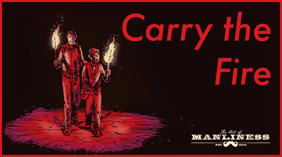 carry the fire the road cormac mccarthy illustration