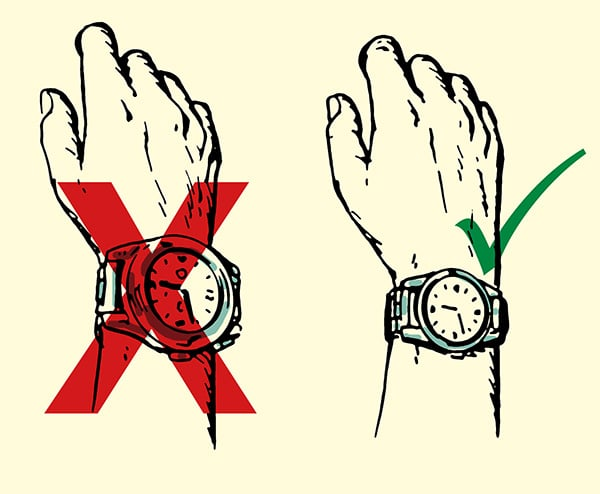 Picking the Perfect Watch For Your Hand Size illustration.