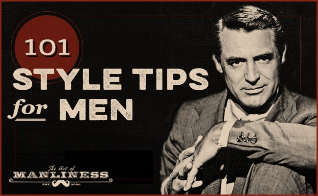 101 Style tips for men.