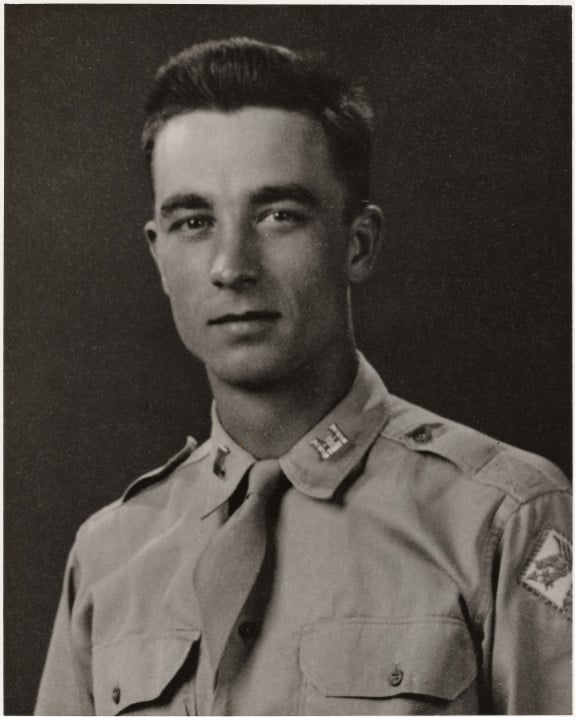 john f williams III vintage military portrait