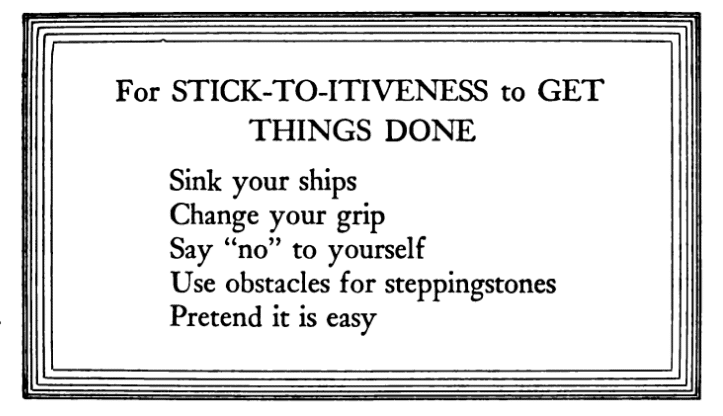 Stick-to-itiveness, Poem.