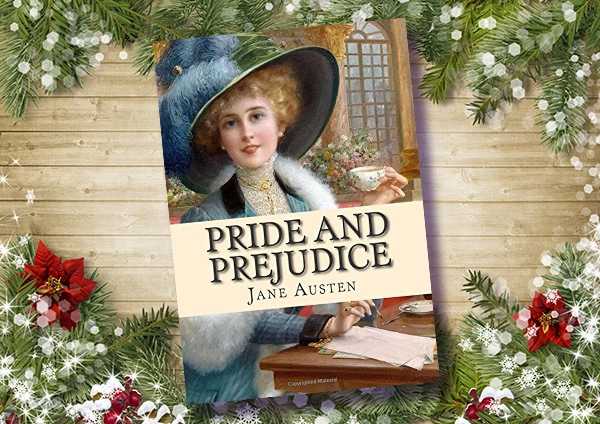 Pride and prejudice cheap paperback novel on the table.