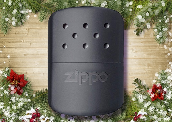 Zippo hand warmer place with decorated background.