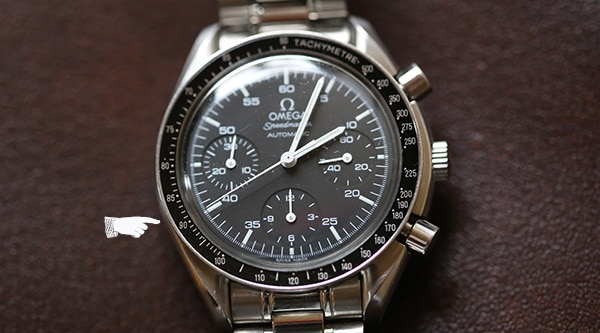 using a tachymeter on a wristwatch omega