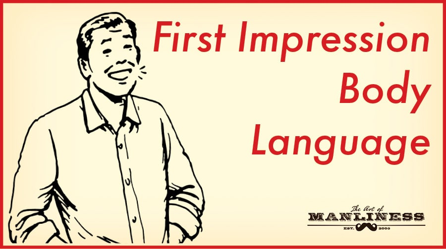 first impression body language illustration