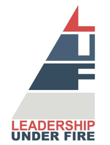 Leadership under fire, company logo.