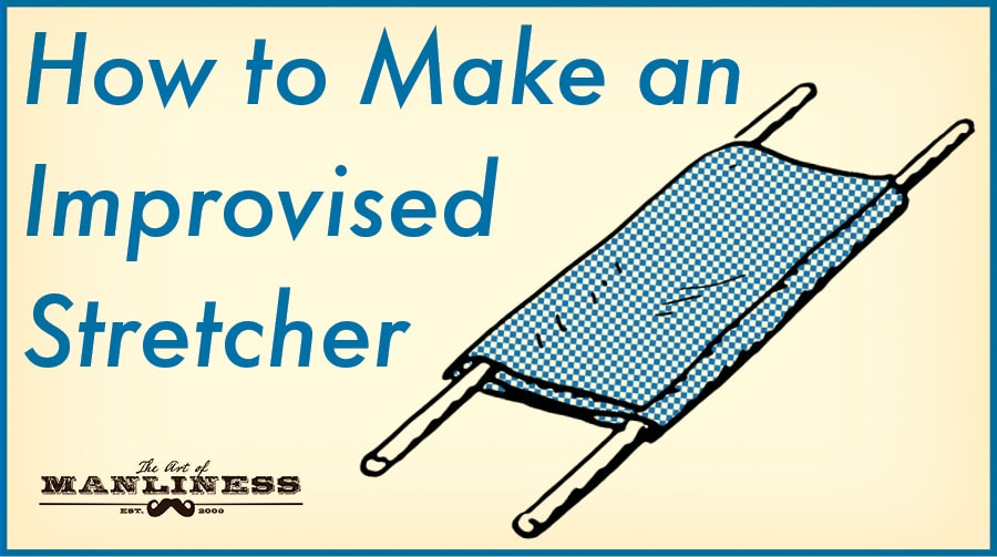 How to make an improvised stretcher illustration.