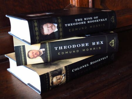 Theodore Roosevelt Trilogy by Edmund Morris, book cover.