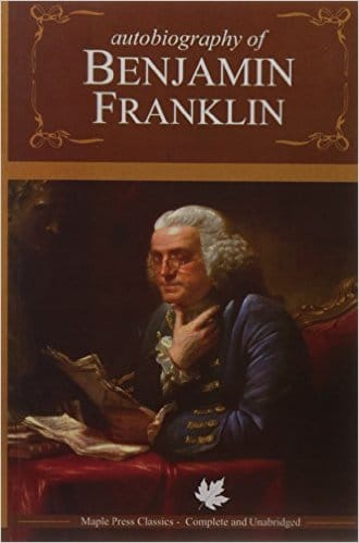 The Autobiography of Benjamin Franklin, book cover.
