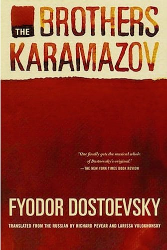 The Brothers Karamazov by Fyodor Dostoevsky, book cover.