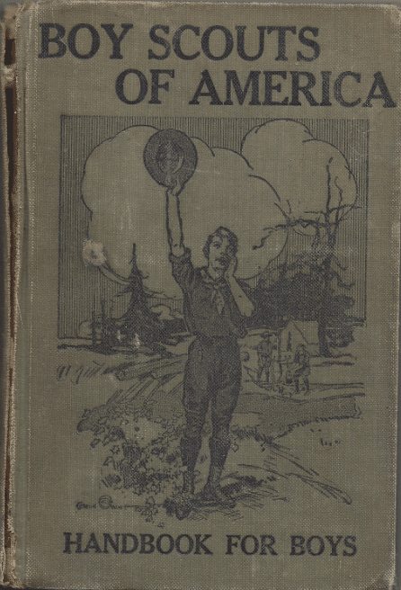 The Boy Scout Handbook (1st Edition), book cover.