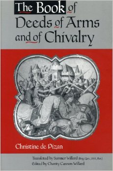 The Book of Deeds of Arms and Chivalry by Christine de Pizan, book cover.
