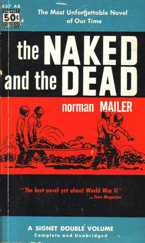 The Naked and the Dead by Norman Mailer, book cover.