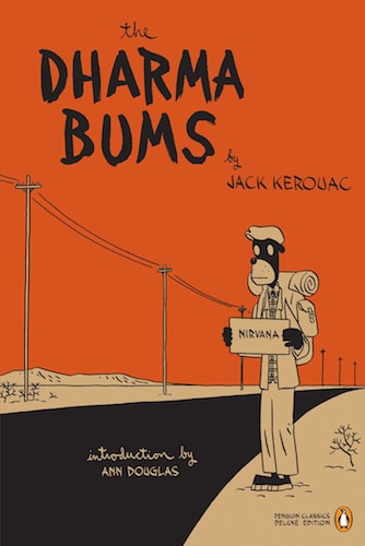The Dharma Bums by Jack Kerouac, book cover.