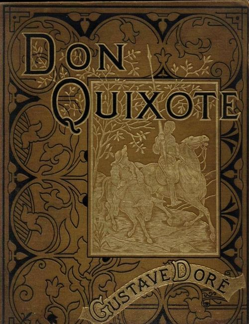 Don Quixote by Miguel de Cervantes, book cover.