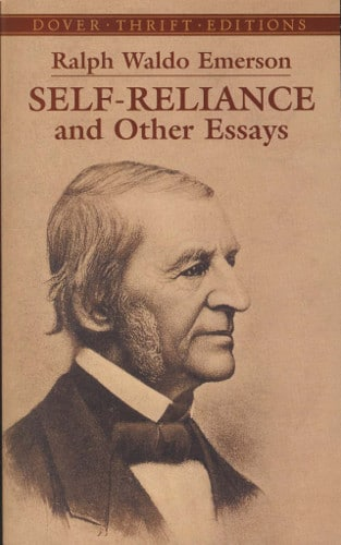 Self-Reliance & Other Essays by Ralph Waldo Emerson, book cover.