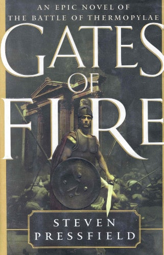 Gates of Fire by Stephen Pressfield, book cover.