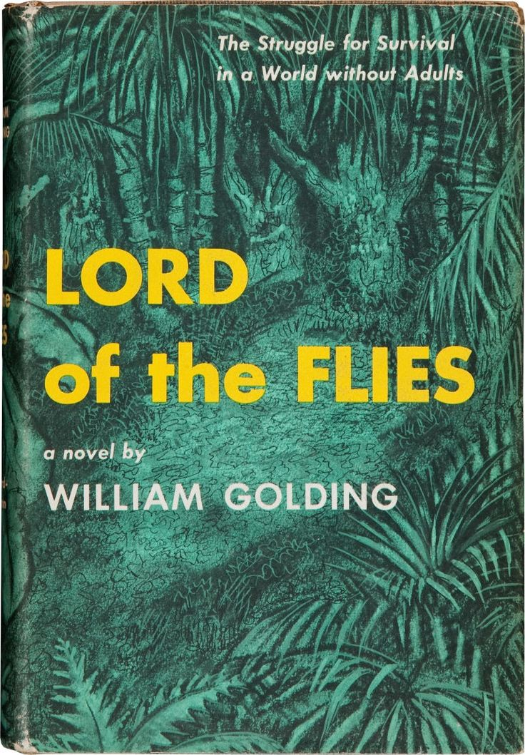 The Lord of the Flies by William Golding, book cover.