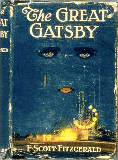 The Great Gatsby by F. Scott Fitzgerald, book cover.