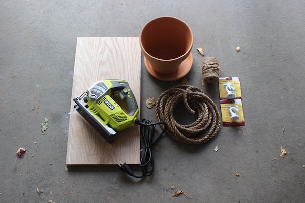 Tools supply for wooden plant.