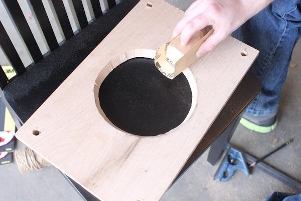 diy wooden plant hanger sanding board