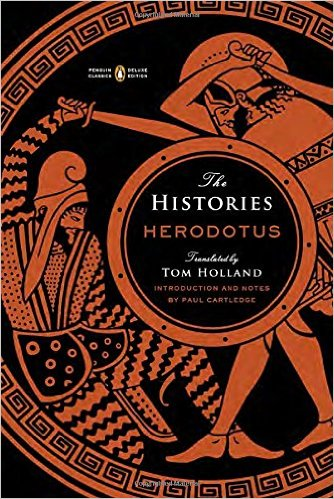 The Histories by Herodotus, book cover.