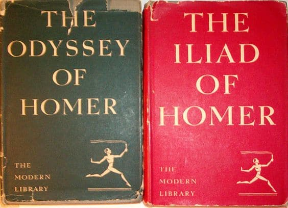 The Iliad & The Odyssey by Homer, book cover.