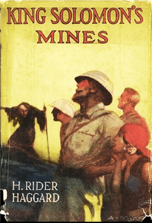 King Solomon's Mines by H. Rider Haggard, book cover.