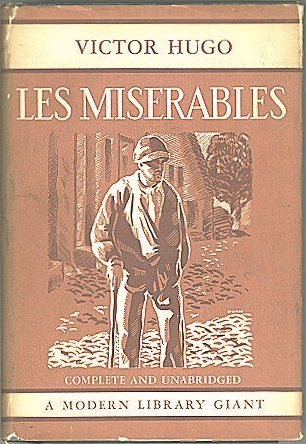 Les Miserables by Victor Hugo, book cover.
