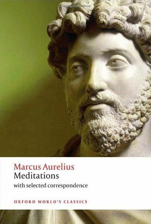 Meditations by Marcus Aurelius, book cover.