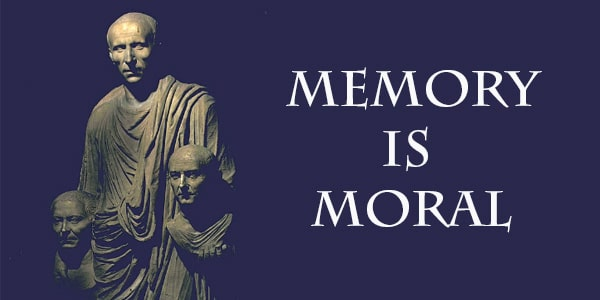 The book cover of Memory is moral.