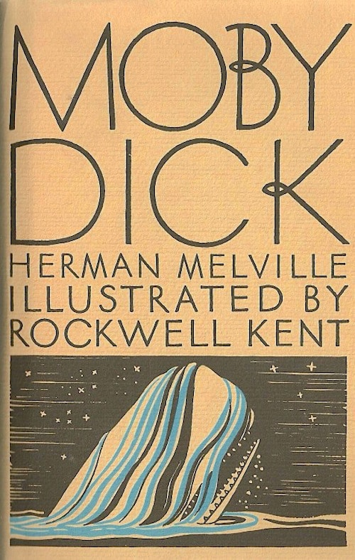 Moby Dick by Herman Melville, book cover.
