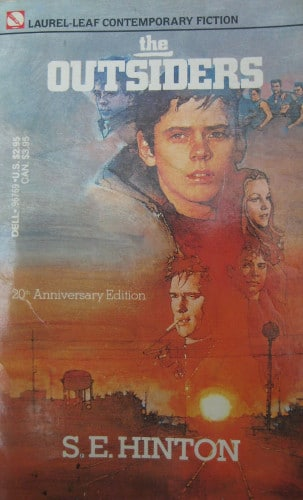 The Outsiders by S. E. Hinton, book cover.