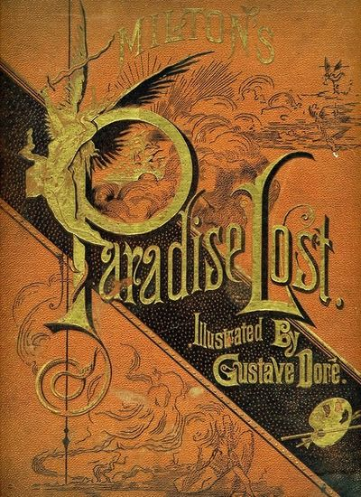 Paradise Lost by John Milton, book cover.