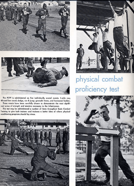 vintage military photo physical combat proficiency test