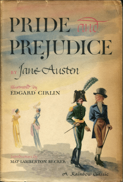 Pride & Prejudice by Jane Austen, book cover.