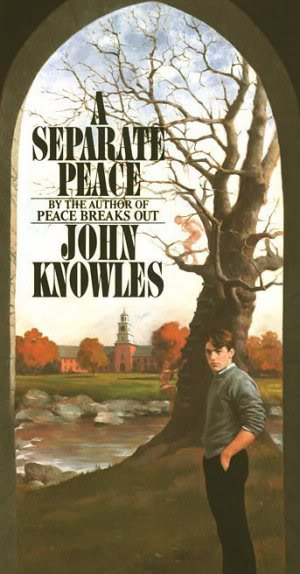 A Separate Peace by John Knowles, book cover.