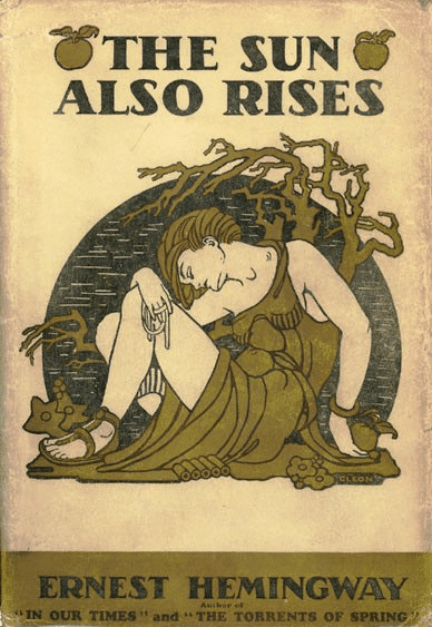 The Sun Also Rises by Ernest Hemingway, book cover.