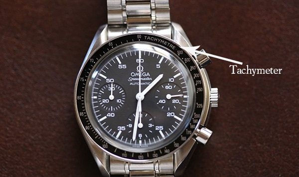 tachymeter on a wristwatch
