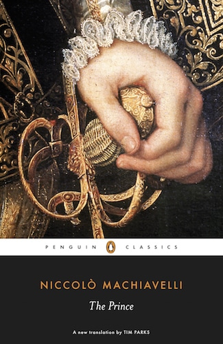 The Prince by Niccolo Machiavelli, book cover.