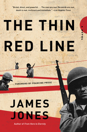 The Thin Red Line by James Jones, book cover.