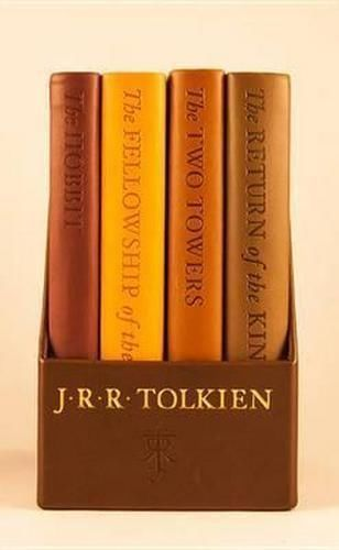 The Hobbit & The Lord of the Rings by J.R.R. Tolkien, book cover.